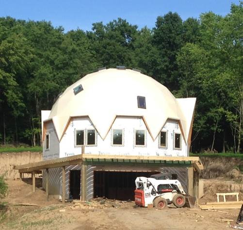 Dome Home Kits And Plans: Dome Home Building Photo In New York, Dome Assembly Photo
