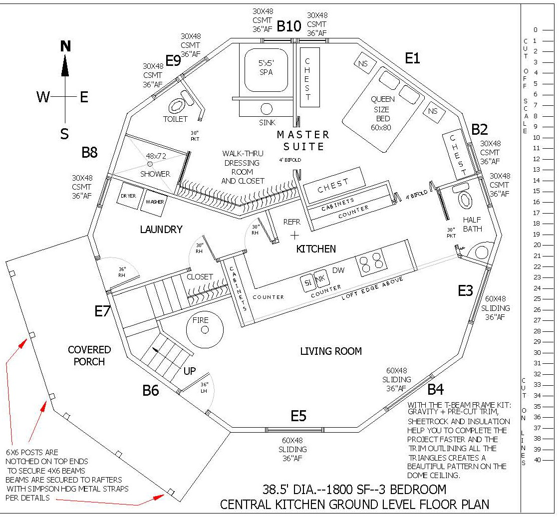 Dome Home Building Kits: Dome Home Floorplans
