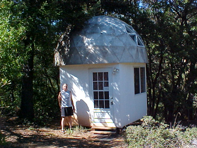 Small Round Dome Cabin Built With Econodome Frame Kit